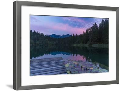 Evening Mood in the Crestasee at Flims-Armin Mathis-Framed Photographic Print