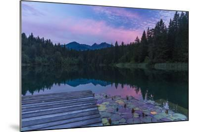 Evening Mood in the Crestasee at Flims-Armin Mathis-Mounted Photographic Print