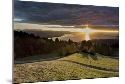 Sundown over Lake of Constance-Jurgen Ulmer-Mounted Photographic Print