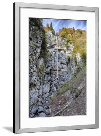 Waterfall in the Autumnal Wood-Jurgen Ulmer-Framed Photographic Print