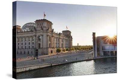 Reichstag at Sundown, Berlin, Germany-Markus Lange-Stretched Canvas Print
