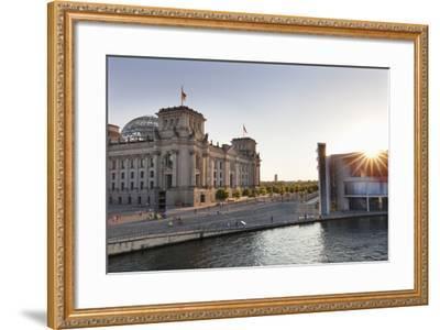 Reichstag at Sundown, Berlin, Germany-Markus Lange-Framed Photographic Print