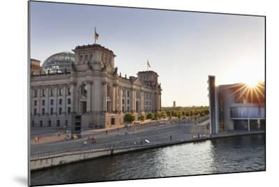 Reichstag at Sundown, Berlin, Germany-Markus Lange-Mounted Photographic Print