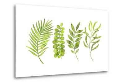 Watercolor Greenery Set with Leaves, Herbs and Branches-Maria Mirnaya-Metal Print