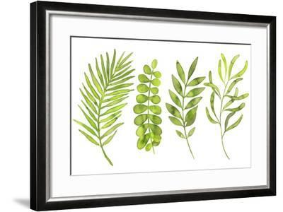 Watercolor Greenery Set with Leaves, Herbs and Branches-Maria Mirnaya-Framed Art Print
