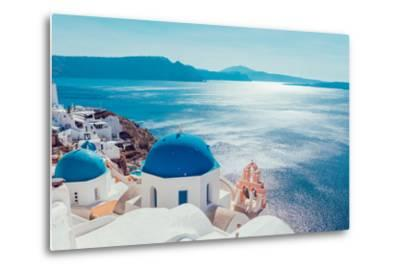 Santorini Island,Greece-anastasios71-Metal Print