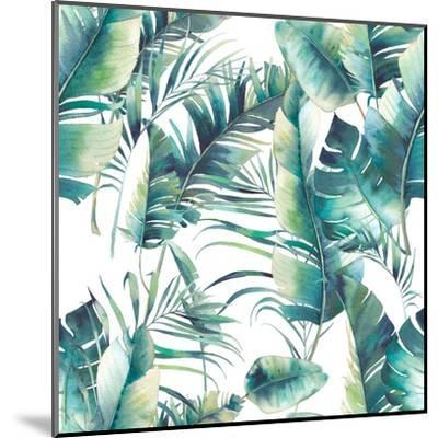 Summer Palm Tree and Banana Leaves-Eisfrei-Mounted Art Print
