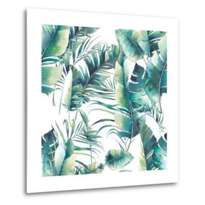 Summer Palm Tree and Banana Leaves-Eisfrei-Metal Print