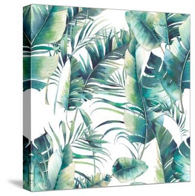 Summer Palm Tree and Banana Leaves-Eisfrei-Stretched Canvas Print