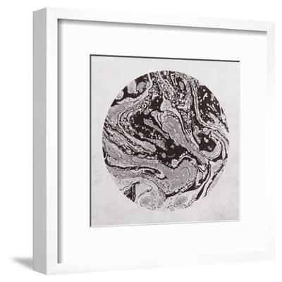 Abstract Marble Sphere of Ink-Swedish Marble-Framed Art Print
