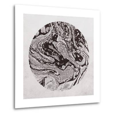 Abstract Marble Sphere of Ink-Swedish Marble-Metal Print