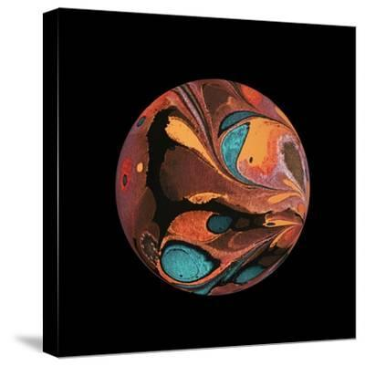 Abstract Marble Sphere of Ink-Swedish Marble-Stretched Canvas Print