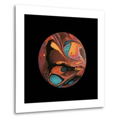Abstract Marble Sphere of Ink-Swedish Marble-Metal Print