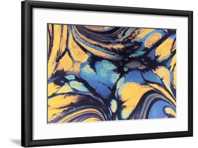 Abstract Marbled Ink-Swedish Marble-Framed Art Print