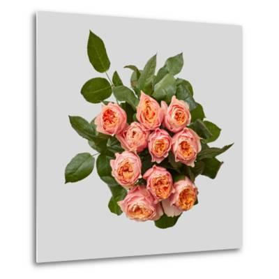 Pink Bouquet of Roses-artjazz-Metal Print