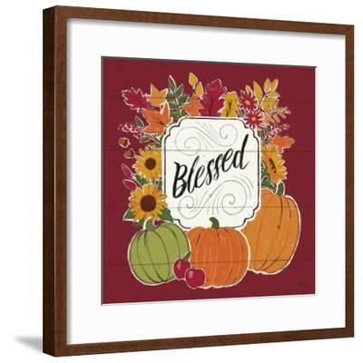Thankful III Red-Janelle Penner-Framed Art Print