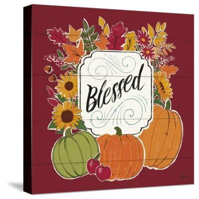 Thankful III Red-Janelle Penner-Stretched Canvas Print