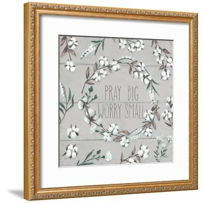 Blessed VI Gray Pray Big Worry Small-Janelle Penner-Framed Premium Giclee Print