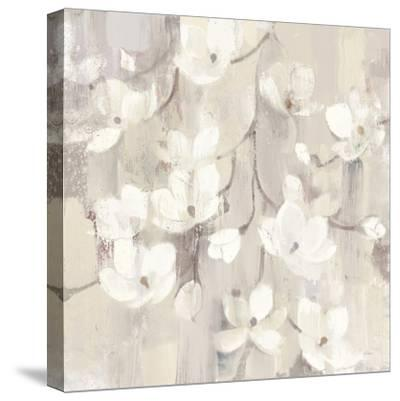 Magnolias in Spring II Neutral-Albena Hristova-Stretched Canvas Print