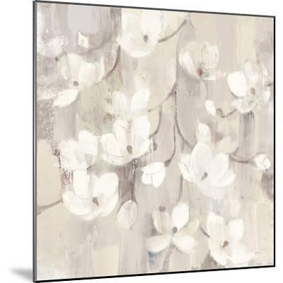 Magnolias in Spring II Neutral-Albena Hristova-Mounted Art Print