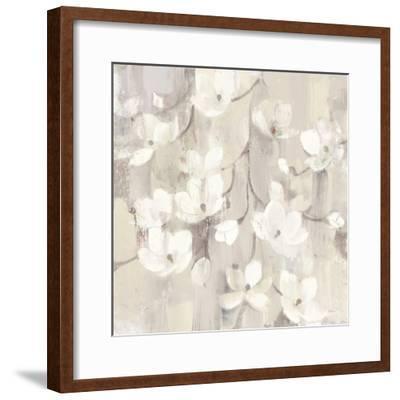 Magnolias in Spring II Neutral-Albena Hristova-Framed Art Print