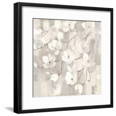 Magnolias in Spring I Neutral-Albena Hristova-Framed Art Print