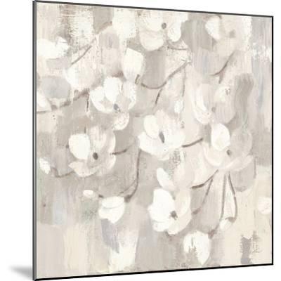 Magnolias in Spring I Neutral-Albena Hristova-Mounted Art Print