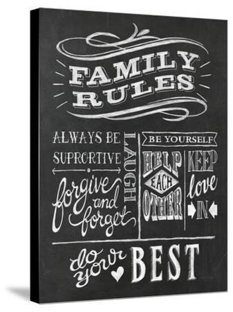 Family Rules I v2-Mary Urban-Stretched Canvas Print