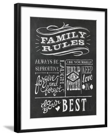 Family Rules I v2-Mary Urban-Framed Art Print