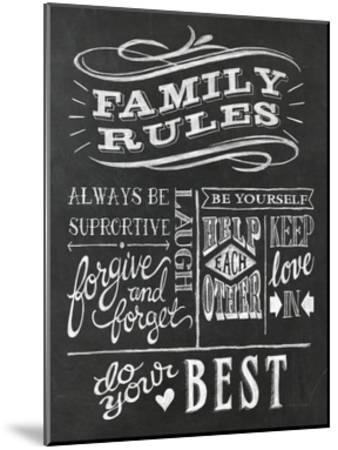 Family Rules I v2-Mary Urban-Mounted Art Print