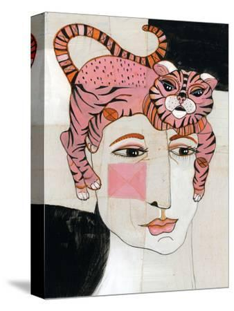 Cat Hair-Stacy Milrany-Stretched Canvas Print