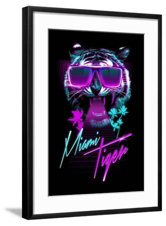 Miami Tiger-Robert Farkas-Framed Art Print