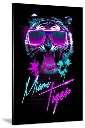 Miami Tiger-Robert Farkas-Stretched Canvas Print