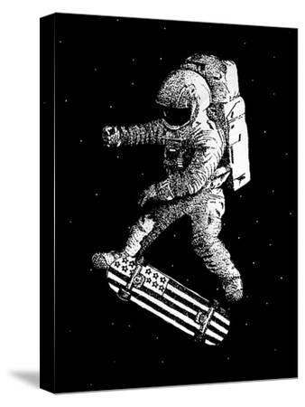 Kickflip in Space-Robert Farkas-Stretched Canvas Print