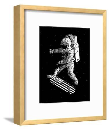 Kickflip in Space-Robert Farkas-Framed Premium Giclee Print
