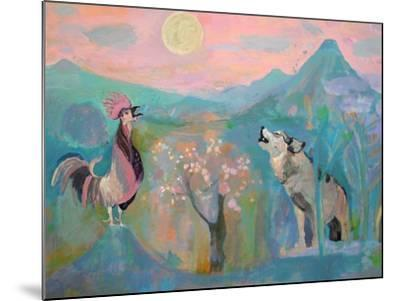 The Wolf and the Rooster Sing by Moonlight-Iria Fernandez Alvarez-Mounted Art Print