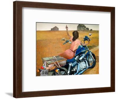 Leaving-Barry Kite-Framed Art Print