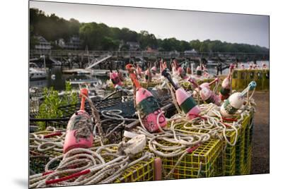 Lobster buoys, Lobster Cove, Annisquam, Cape Ann, Essex County, Massachusetts, USA--Mounted Photographic Print