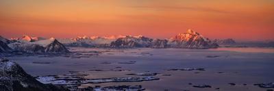 Islands in the sea, Austvagoy, Lofoten, Nordland County, Norway--Framed Photographic Print