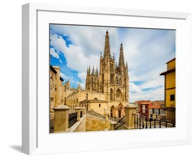 Burgos, Burgos Province, Castile y Leon, Spain. The Gothic cathedral. Construction began in the...--Framed Photographic Print