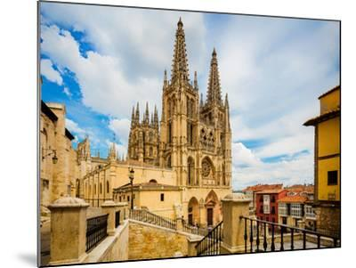 Burgos, Burgos Province, Castile y Leon, Spain. The Gothic cathedral. Construction began in the...--Mounted Photographic Print