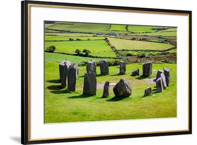 near Glandore, County Cork, Republic of Ireland. Drombeg recumbent stone circle. It is also know...--Framed Photographic Print