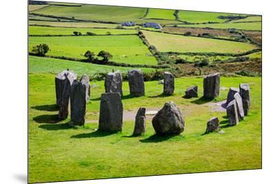 near Glandore, County Cork, Republic of Ireland. Drombeg recumbent stone circle. It is also know...--Mounted Photographic Print