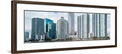 Skyscrapers at the waterfront, Brickell, Miami, Florida, USA--Framed Photographic Print