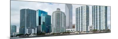 Skyscrapers at the waterfront, Brickell, Miami, Florida, USA--Mounted Photographic Print