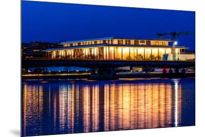 WASHINGTON D.C. -Kennedy Center Performing Arts with reflection on Potomac River - Washington D.C.--Mounted Photographic Print