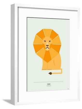 Lion-Tomas Design-Framed Premium Giclee Print