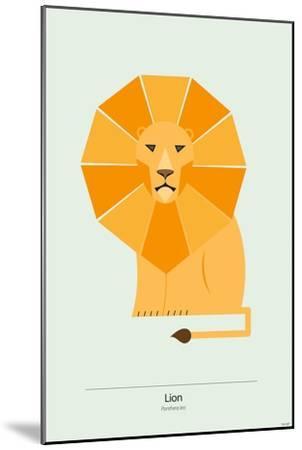 Lion-Tomas Design-Mounted Premium Giclee Print
