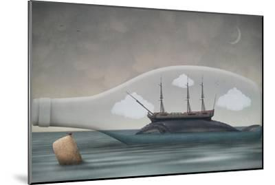 Voyage in a Bottle-Greg Noblin-Mounted Premium Giclee Print
