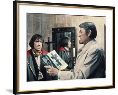 La Malediction THE OMEN by Richard Donner with David warner and Gregory Peck, 1976 (photo)--Framed Photo